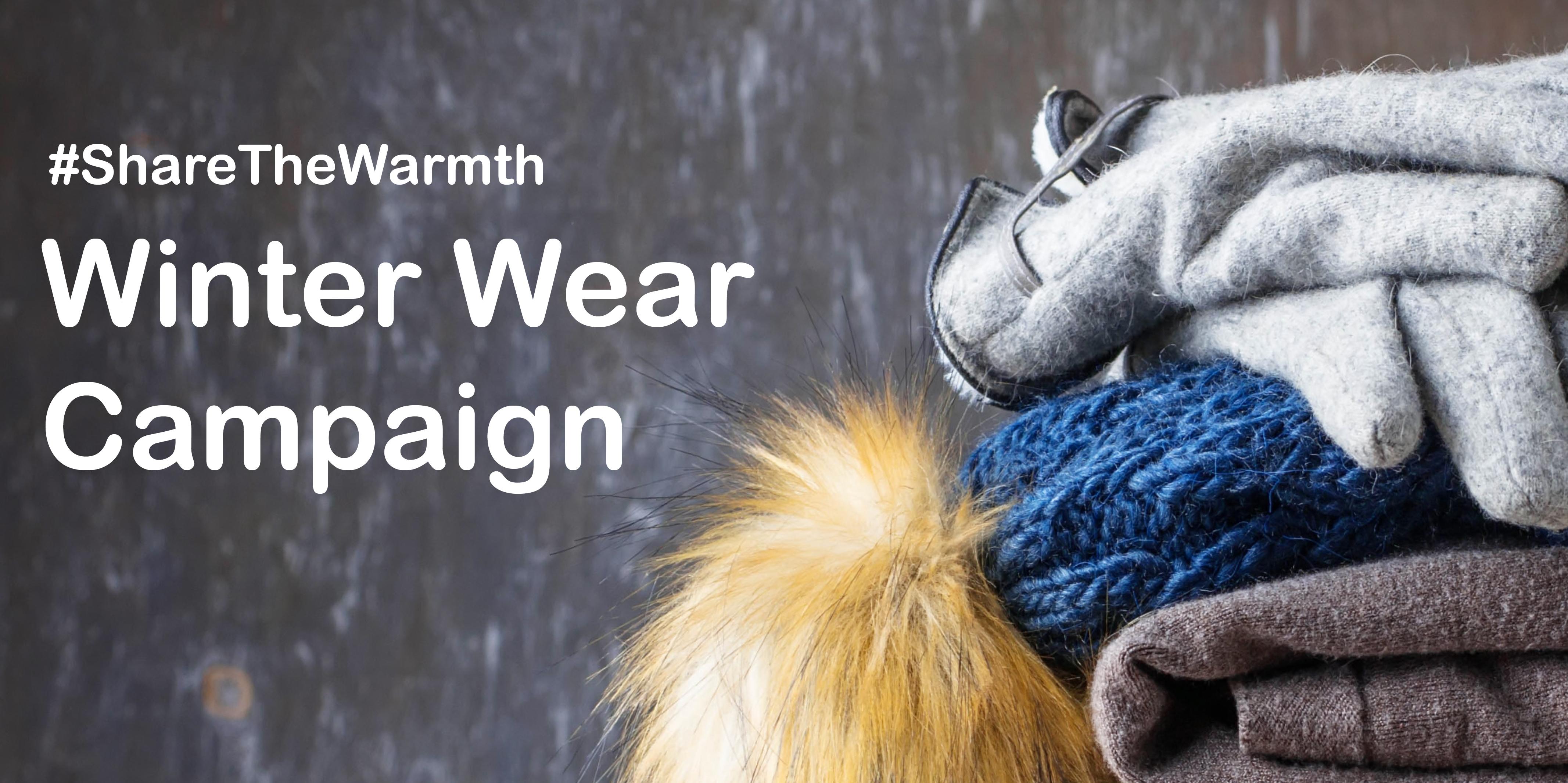 #ShareTheWarmth Winter Wear Campaign
