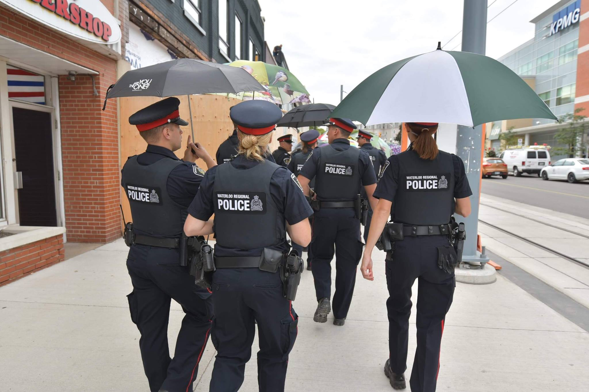 Waterloo Regional Police Service Hugo Women Kw Super Happy To Support The United Way Region Communities March Of 1000 Umbrellas Campaign